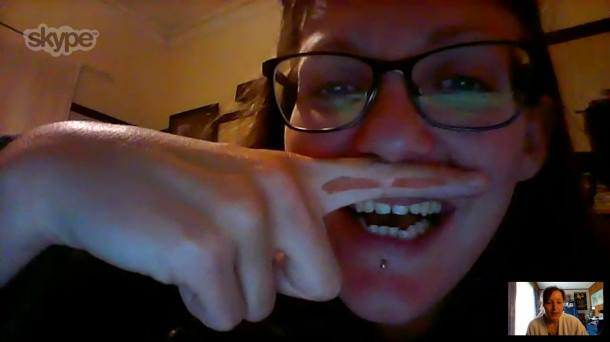 Skyping with Annelies is always a good time!