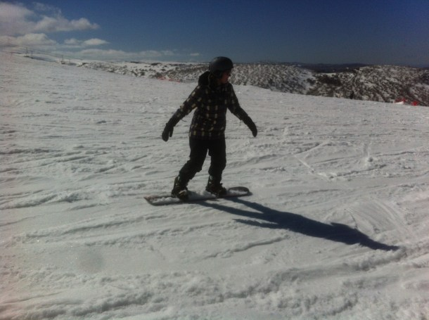 Snowboarding on Mt. Hotham