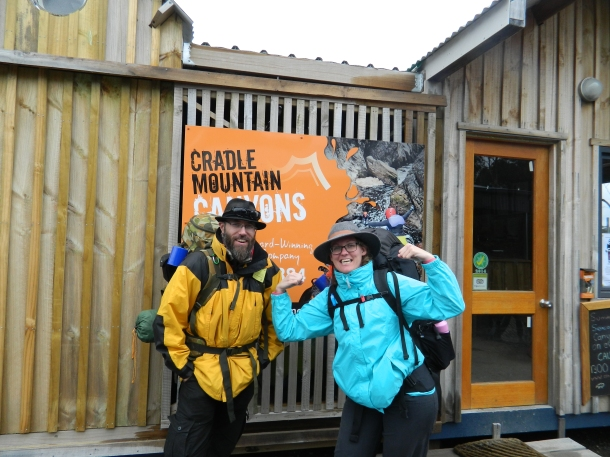 Starting the Overland Track in the rain