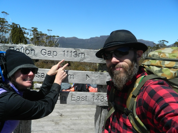 Reaching the highest point on the Overland Track