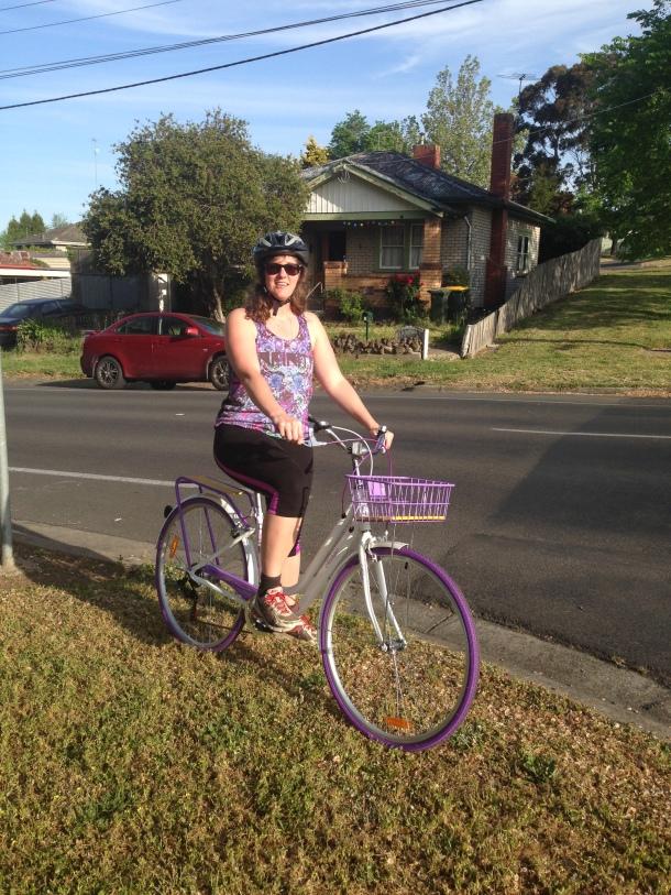 My beautiful, purple bike