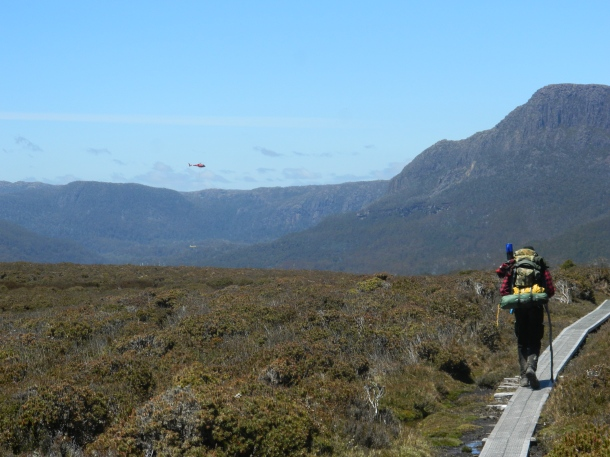 The view from Pelion Gap in Tasmania