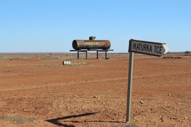 A crossroads near Marree in South Australia