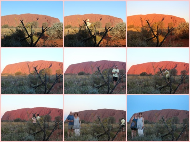 Uluru as the sun sets